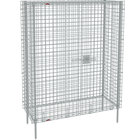 Metro SEC35S Stainless Steel Stationary Wire Security Cabinet 50 1/2 inch x 21 1/2 inch x 66 13/16 inch