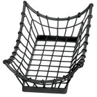 Tablecraft GM1608 Grand Master Rectangular Black Metal Basket - 15 inch x 8 inch x 4 1/4 inch