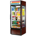True GEM-23-LD Cherry Glass End Merchandiser - 23 Cu. Ft.