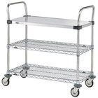 Metro MW403 Super Erecta 18 inch x 36 inch x 38 inch Three Shelf Standard Duty Utility Cart