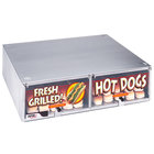 APW Wyott BC-50D Hot Dog Bun Cabinet with Drawer HR-50 Series Hot Dog Roller Grills - Holds 144 Buns
