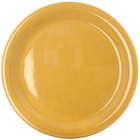Carlisle 4300422 Durus 9 inch Honey Yellow Narrow Rim Melamine Plate - 24/Case