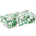 7 1/8 inch x 3 3/8 inch x 1 7/8 inch 1-Piece 1 lb. Holly / Holiday Candy Box   - 250/Case
