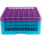 Carlisle RG49-3C414 OptiClean 49 Compartment Lavender Color-Coded Glass Rack with 3 Extenders