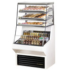 """True THAC-36DG-LD-WH 36"""" White Refrigerated Horizontal Air Curtain Merchandiser with Five Shelves - 8.8 Cu. Ft."""