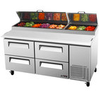 Turbo Air TPR-67SD-D4 67 inch Four Drawer Pizza Prep Table