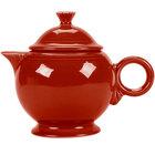 Homer Laughlin 496326 Fiesta Scarlet 44 oz. Covered Teapot - 4 Sets / Case