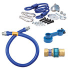 Dormont 1675BPQR48 SnapFast® 48 inch Gas Connector Kit with Restraining Cable - 3/4 inch Diameter