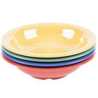 GET B-167-MIX Diamond Mardi Gras 16 oz. Melamine Bowl, Assorted Colors - 24/Case