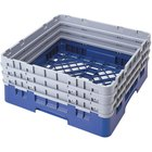 Cambro BR712168 Blue Camrack Full Size Open Base Rack with 3 Extenders