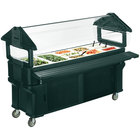 Carlisle 661108 Forest Green 6' Six Star Portable Food / Salad Bar with Storage Base