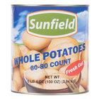 #10 Can 60-80 Count Medium Whole White Potatoes - 6/Case