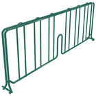 Metro DD24-DHG 24 inch Hunter Green Wire Shelf Divider