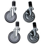 Regency 5 inch Work Table and Equipment Stand Swivel Stem Casters - 4 / Set