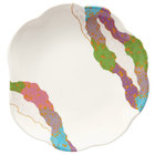 GET 139-CO 8 inch Contemporary Melamine Scallop Shaped Plate - 12 / Pack