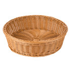 GET WB-1551-HY 15 1/2 inch x 4 1/4 inch Designer Polyweave Honey Round Basket   - 12/Case
