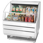 Turbo Air TOM-30SW-N Slim Line 28 inch White Horizontal Air Curtain Display Case