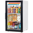 True GDM-6-LD White One Door Countertop Swing Door Refrigerator