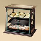 Cal Mil 284-S-52 Wood Frame Bakery Display Case with Front Door 21 3/4 inch x 18 1/2 inch x 20 1/4 inch