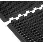 Cactus Mat 4420-CCWB VIP Duralok 3' 2 inch x 5' 1 inch Black Center Interlocking Anti-Fatigue Anti-Slip Floor Mat with Beveled Edge - 3/4 inch Thick