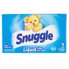 1.5 oz. Snuggle Blue Sparkle Liquid Fabric Softener Box for Coin Vending Machine - 100/Case