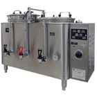Grindmaster 7446E Twin Midline 6 Gallon Fresh Water Coffee Urn - 120/208V