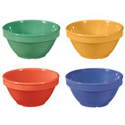 GET BC-170-MIX Diamond Mardi Gras 8 oz. Melamine Bowl, Assorted Colors - 48/Case