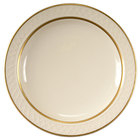 Homer Laughlin 1420-0344 Westminster Gothic Ivory (American White) 6 1/4 inch Narrow Rim Plate - 36/Case