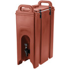 Cambro 500LCD402 Camtainers® 4.75 Gallon Brick Red Insulated Beverage Dispenser