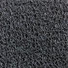 Cactus Mat 1451R-E3 Vinyl-Coil 3' Wide Gray Scraper Mat Roll - 3/8'' Thick