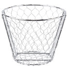 American Metalcraft WIR1 Round Chrome Chicken Wire Basket - 7 inch x 5 1/2 inch