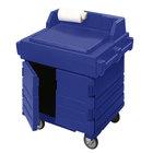 Cambro KWS40186 Navy Blue CamKiosk Food Preparation / Counter Work Station Cart