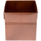 American Metalcraft BEVC655 3.375 Qt. 1/6 Size Copper Square Hammered Beverage Tub - 6 1/4