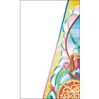 8 1/2 inch x 14 inch Menu Paper Cover - Pasta Themed Table Setting Design - 100/Pack
