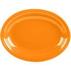 Homer Laughlin 457325 Fiesta Tangerine 11 5/8 inch Medium Oval Platter   - 12/Case