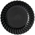 Fineline Flairware Black 207-BK 7 1/2 inch Plastic Plate 180 / Case