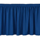 National Public Seating SS16-48 Navy Shirred Stage Skirt for 16