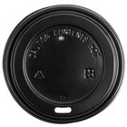 Choice 8 oz. Squat to 24 oz. Black Hot Paper Cup Travel Lid - 1000/Case
