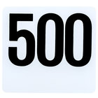 American Metalcraft 4500 Plastic Table Number Set - Numbers 451 - 500
