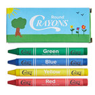 Choice 4 Pack Kids Restaurant Crayons in Print Box   - 100/Pack