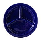 Tuxton BCA-0903 TuxCare Healthcare 9 inch Cobalt Three-Compartment Plate - 12/Case
