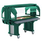 Cambro VBRLHD5519 Green 5' Versa Food / Salad Bar with Heavy Duty Casters - Low Height