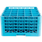 Carlisle RG25-414 OptiClean 25 Compartment Glass Rack with 4 Extenders