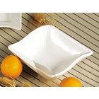 CAC SOH-76 Soho 20 oz. Ivory (American White) Square Stoneware Bowl - 36/Case