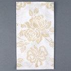 Hoffmaster 856520 Linen-Like 12 inch x 17 inch Gold Prestige 1/6 Fold Guest Towel 500/Case