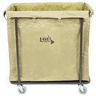 Lavex Lodging Commercial Laundry Cart/Trash Cart, 14 Bushel Metal Frame and Canvas Bag