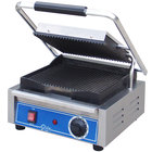 Globe GPG10 Bistro Series Sandwich Grill with Grooved Plates - 1800W