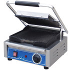 Globe GPG10 Bistro Series Sandwich Grill with Grooved Plates - 10 inch x 10 inch Cooking Surface - 120V, 1800W