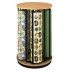 Bulman R1499 Revolving Vertical 5 Roll Oak Suzy Rack - Assembled