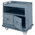 Cambro MDC24F401 Slate Blue Beverage Service Cart with 2 Doors - 44 1/2 inch x 30 inch x 44 inch
